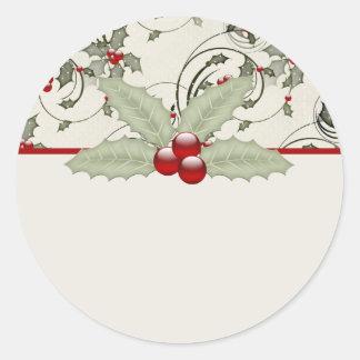 Christmas Holly Design 1 - Christmas Stickers