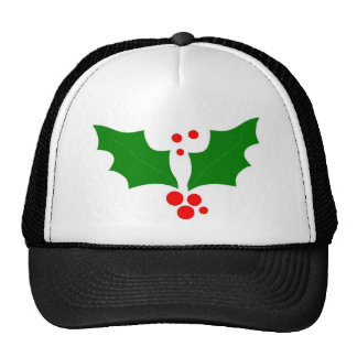 Christmas Holly Design Hat