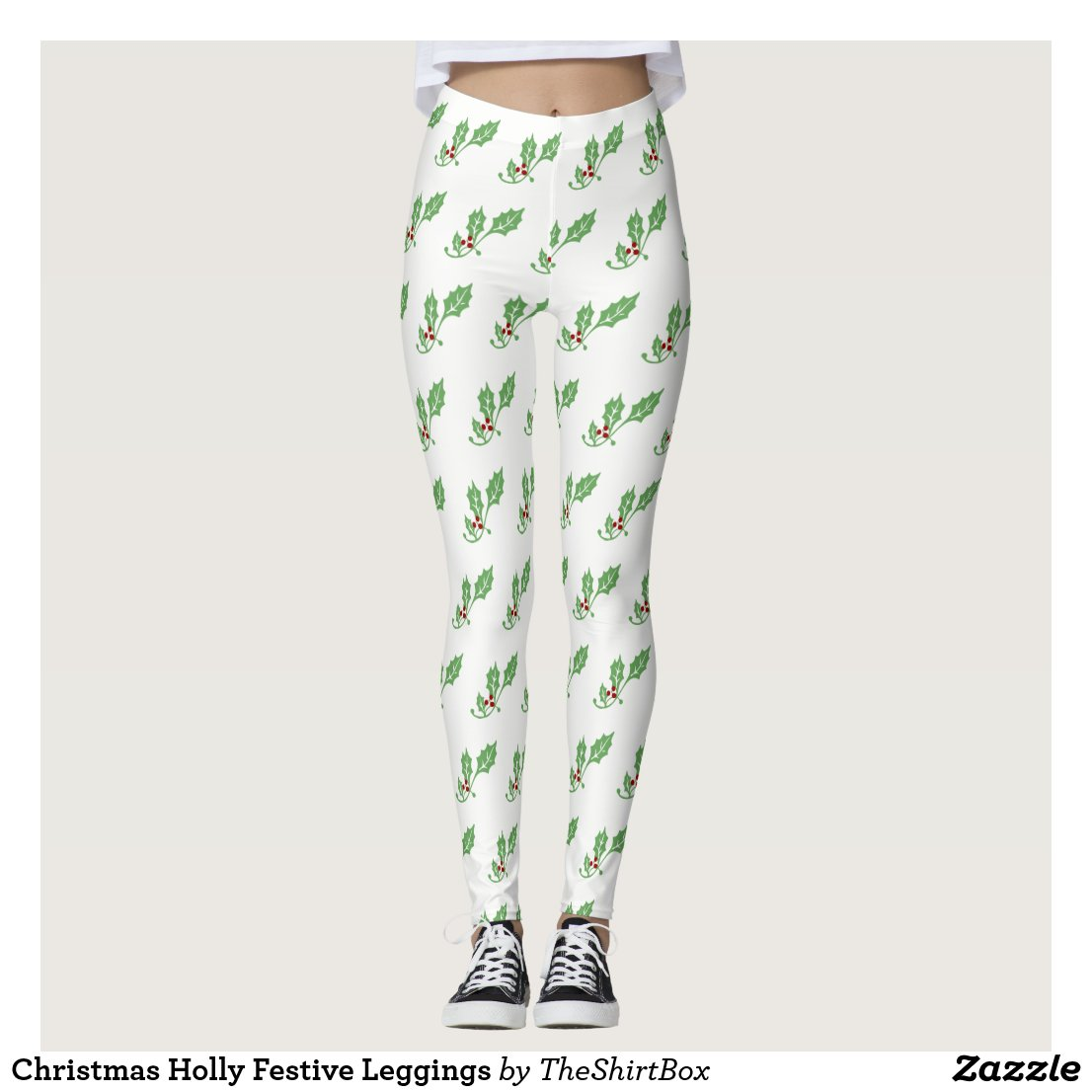 Christmas Holly Festive Leggings