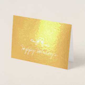 Christmas Holly Happy Holidays Etched Foil Card