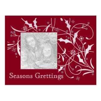Christmas Holly-   Holiday Card Postcard
