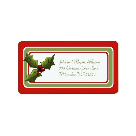 Christmas Holly Holiday Gift Tag