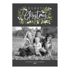 Christmas Holly-Holiday Photo Card