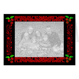 Christmas Holly In Red Greeting Card