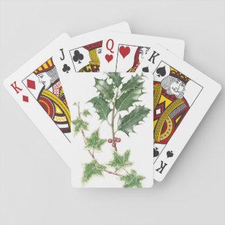 Christmas Holly & Ivy Botanical Playing Cards