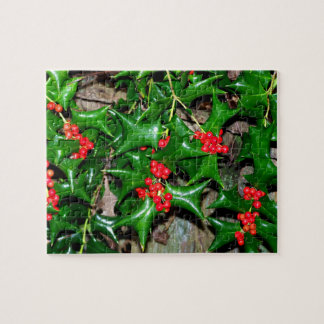 Christmas Holly Jigsaw Puzzle
