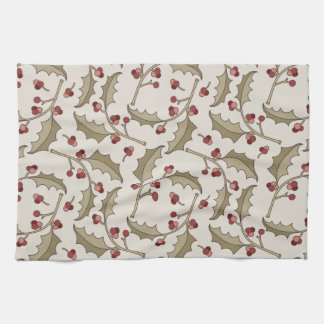 Christmas Holly Kitchen Towel