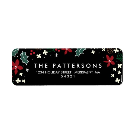 Christmas Holly Mistltoe Return Address Labels