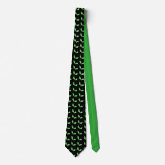 Christmas Holly Pattern Tie