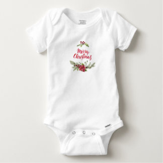 Christmas | Holly & Pines Festive Quote Baby Onesie
