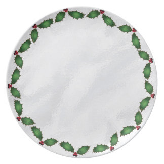 Christmas Holly Plate