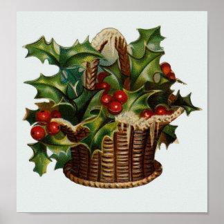 Christmas Holly Print