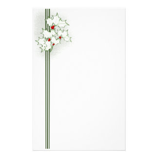 Christmas Holly Stationery