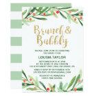 Christmas Holly Wreath Brunch & Bubbly Card