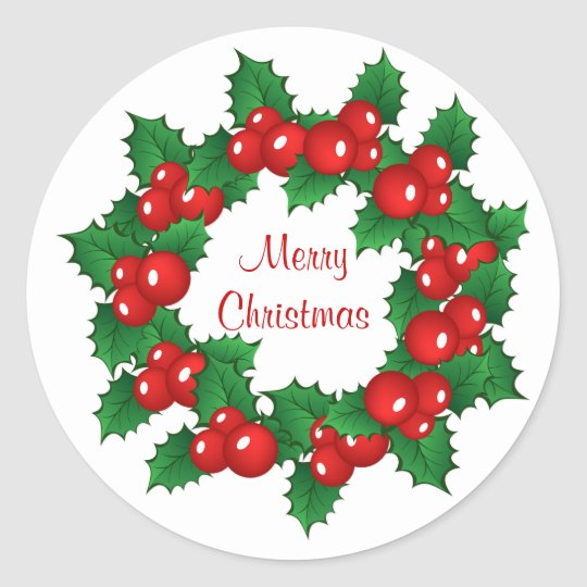 Christmas holly wreath Sticker