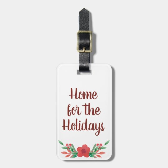 Christmas Home for the Holidays Luggage Tag