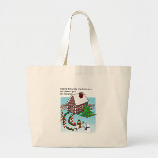 Christmas Homecoming With Text Jumbo Tote Bag