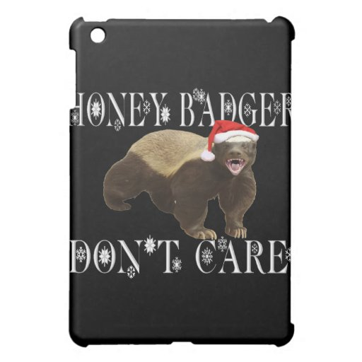 CHRISTMAS HONEY BADGER DON'T CARE CASE FOR THE iPad MINI