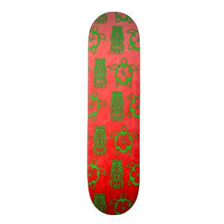 Christmas Honu And Tiki 20 Cm Skateboard Deck