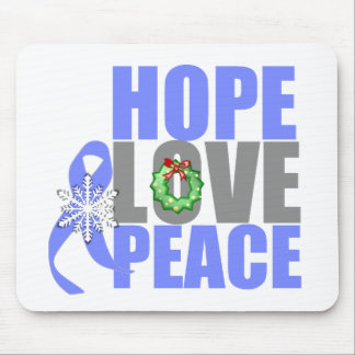 Christmas Hope Love Peace Esophageal Cancer Mouse Pad