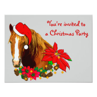 Christmas Horse 11 Cm X 14 Cm Invitation Card