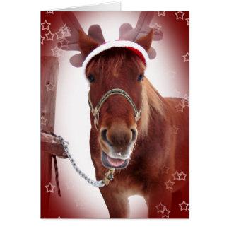 Christmas Horse Card