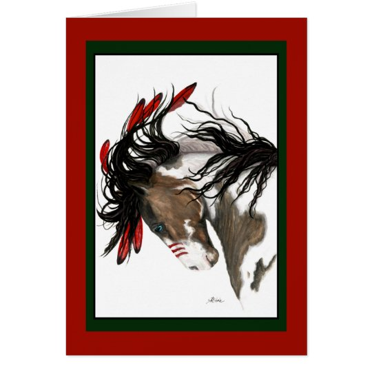 Christmas Horse Card by Bihrle