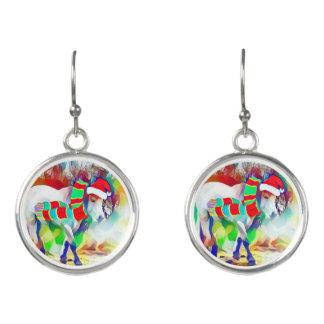 Christmas Horse fashion earrings