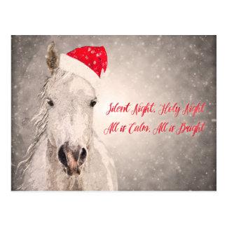 Christmas Horse PostCard Holiday Greetings
