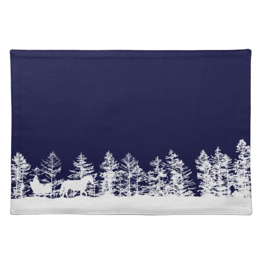Christmas Horse Sleigh Placemat