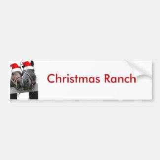 Christmas Horses Bumper Sticker