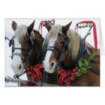 Christmas Horses Greeting Card