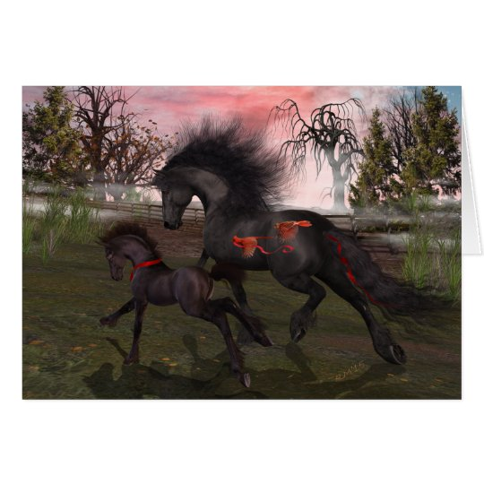 Christmas Horses Greeting Card, envelopes included Card