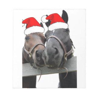 Christmas Horses Notepad