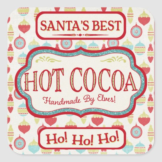 Christmas Hot Cocoa Chocolate Stickers