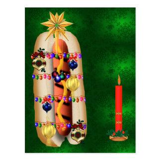 Christmas Hotdog Post Card