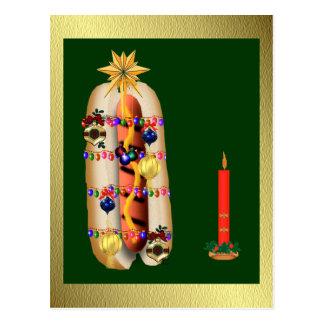 Christmas Hotdog Postcards