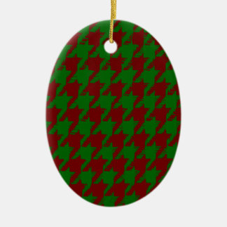 Christmas Houndstooth Christmas Ornament