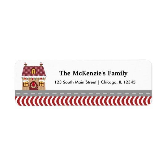 Christmas House Return Address Label
