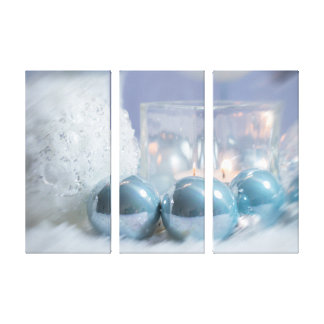 """Christmas Hue Triptych 36"""" x 24"""" Wrapped Canvas"""