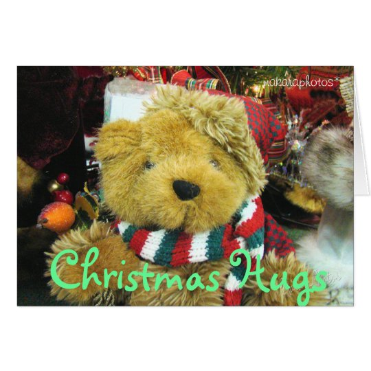 Christmas Hugs-add a picture-customise Card