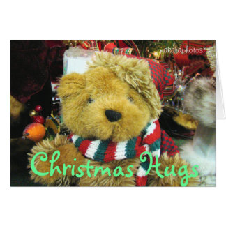 Christmas Hugs-add a picture-customize Card