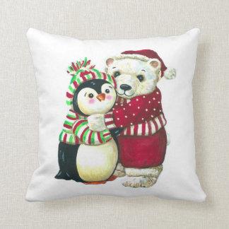 Christmas Hugs! Throw Pillow