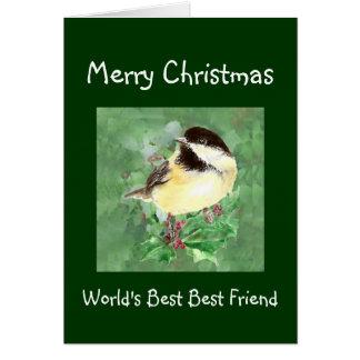 Christmas Humor World's Best Friend Bird Card