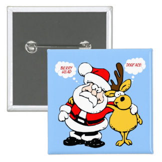Christmas Humour: Stop Fighting & Reconcile Funny 15 Cm Square Badge