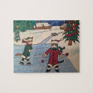 Christmas Ice Skating Jigsaw Puzzle