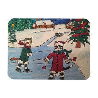 Christmas Ice Skating Magnet