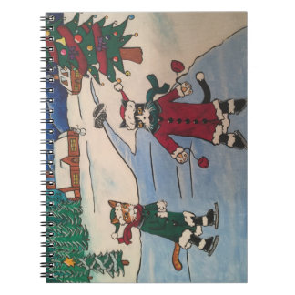 Christmas Ice Skating Spiral Notebook