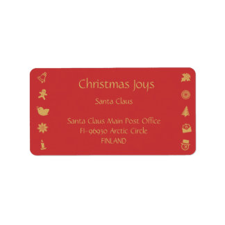 Christmas Icons - Holidayz - Address Label