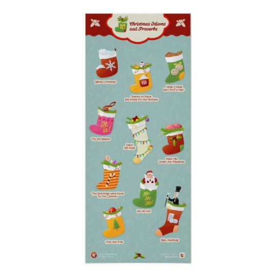 Christmas Idioms and Phrases Poster